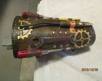 Steampunk engineer's bracer
