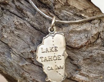 Lake Tahoe Charm / Pendant - Lake Tahoe Jewelry