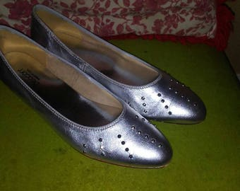 1970s Silver Studded Flats by Beacon