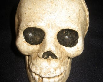 Mr. SKull Vintage Cast Iron Great Paper weight or Deco