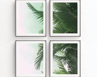 Poster Set | Tropical Leaf Print | Art Print | Wall Decor | Palm Leaves Print