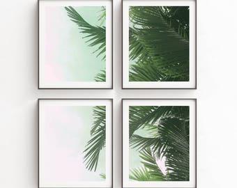Poster Set | Tropical Leaf Print | Art Print | Wall Decor | Palm Leaves Print