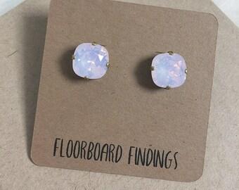 Swarovski Crystal Studs in Rose Opal