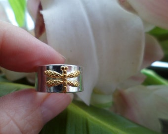 925 Sterling Silver Dragonfly Ring,  Dragon Fly Jewelry