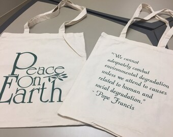 Peace on Earth reusable bag