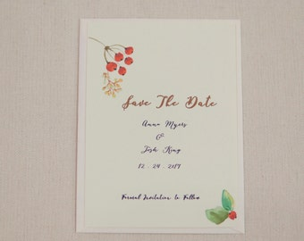 Printed or Printable - Save the Date - free shipping - floral RSVP - apple blossom RSVP - floral wedding - spring wedding - summer wedding