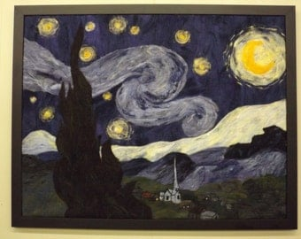 "Felted Wall Art: ""The Starry Night"""