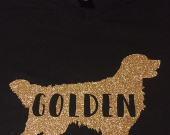 Golden Retriever Shirt Dog Lover Mom Dad Glitter trainer awesome puppy