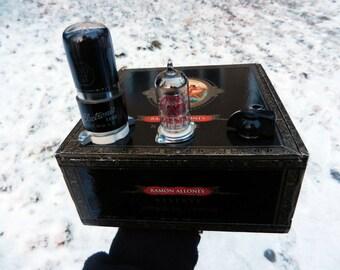 Tube Cigar Box Guitar Amp Handwired