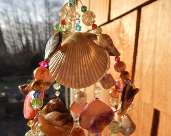Light Catcher, Bejeweled wind chime.
