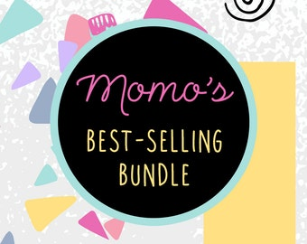 DISCOUNTED BUNDLE: Bestselling By MomoDigital - Digital Print Set, Printable Downloads, Discounted Wall Art Decoration, Home Nursery Office