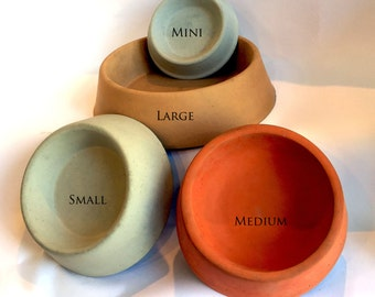 Medium Concrete Pet Bowls