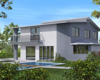 262 m2 | 4 Bed + Study + 2 Living Areas | 2 Story design balcony | plans  2 storey | 2 storye design | Narrow lot land 2 storey plans