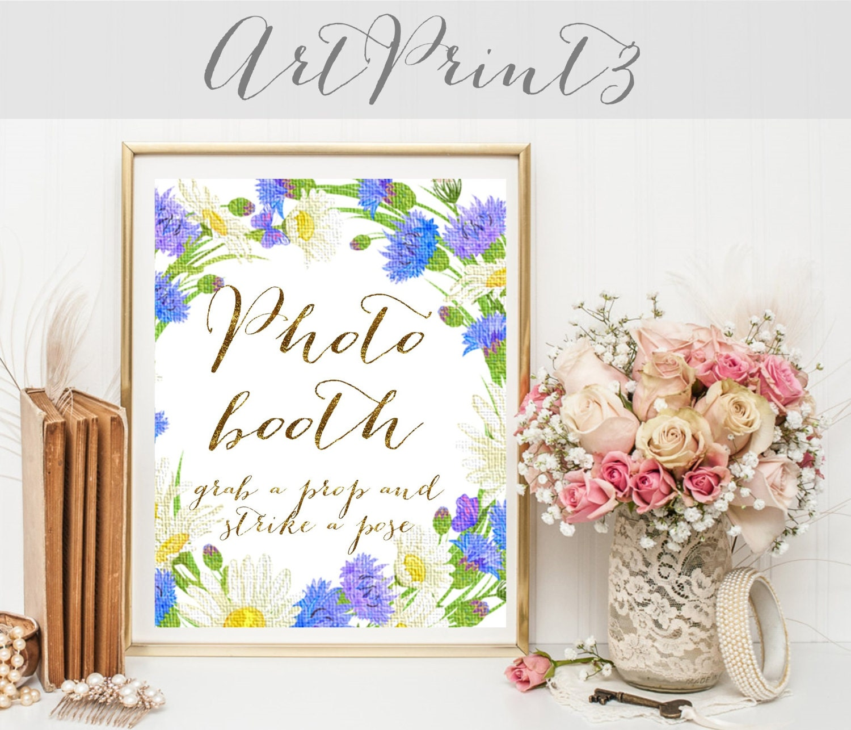 Photo Booth Sign Printable, Wedding Photobooth Sign, Gold Wedding ...