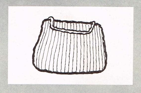 Vintage Knitting Pattern Beret : Vintage knitting pattern - Paris Beret and Chunky Bag - PDF knitting pattern ...