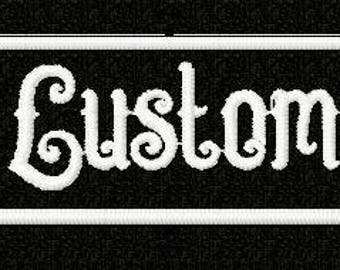 Custom name patch, custom patch, name badge, personalized patch, gift for her, gift under 10, shirt patch, embroidered name patch name patch