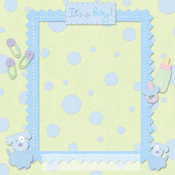 templates for scrapbooking to print - scrapbook templates printable scrapbook for baby boy