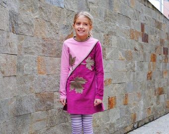 Long sleeve velvet dress for girls/ Kids pink dress semi formal occasion dress/ Toddler boutique dress/ Cute spring dress/ Designer dress