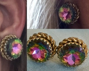Schiaparelli Clip ons Strong style in Great Condition Signed and Collectible