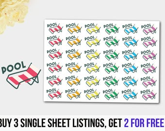 Pool Stickers, Pool Planner Stickers, Pool Planner Stickers