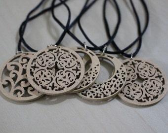Laser Cut Wood Necklace
