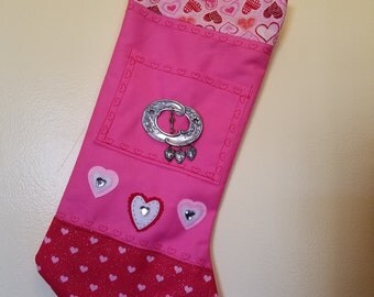 "Valentine Stocking ""I love you with all my hearts"""