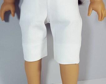 18 inch doll clothes White Capri Pant