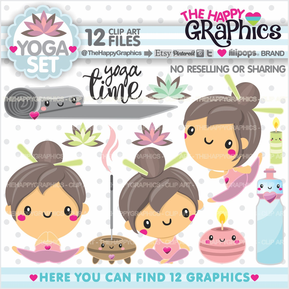 Yoga Clipart 80%OFF Yoga Graphics COMMERCIAL USE Yoga Girl