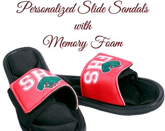 Slide Sandals, Custom Slides, Team Logo, Custom Sandals, Personalized Slides, Wedding Slides, Team Slides, Premium Slides with Memory Foam