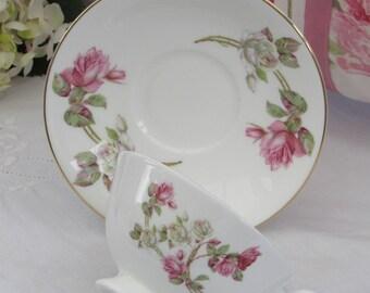 Aynsley, Vintage Teacup, Elizabeth Rose, Wide Mouth Teacup, Bone China Floral Teacup, Pink Roses