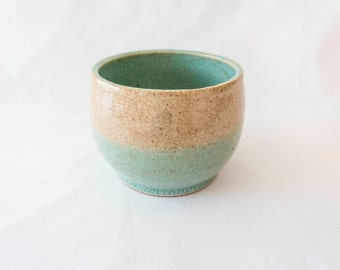 Small clay pot - teal