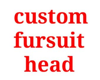Custom fursuit head (read description)