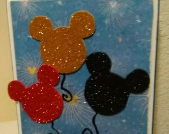 Celebrate Mickey inspired plaque