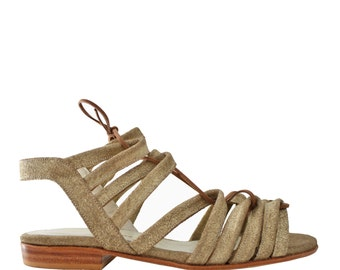 FRANCIS Golden - Sandals Mary - 100% leather - free shipping