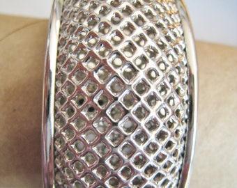 Sarah Coventry Silver Tone Cuff Bracelet