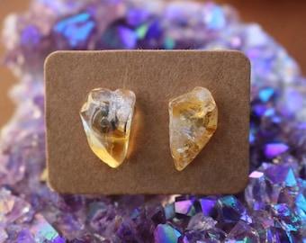 Gemstone Earrings Citrine Earrings Citrine Jewelry Citrine Gemstone Crystal Earrings Natural Citrine Studs Dainty Earrings Gemstone Jewelry
