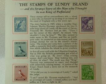 6 Stamps of Lundy Island and the strange story involved with a King that wasn't.