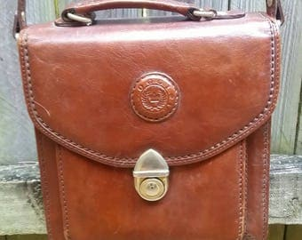 Vintage Oggi Domani Brown Leather Tote