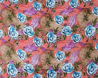 """Dressmaking Fabric Cotton Fabric For Sewing Designer Floral Printed Pure Cotton Fabric 43""""Wide Fabrics Sewing Material By 1 Yard ZBC4937"""