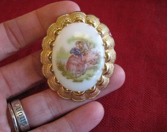 Vintage M.I W. Germany Pin - cameo style