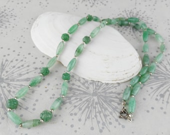 Faux Jade Necklace
