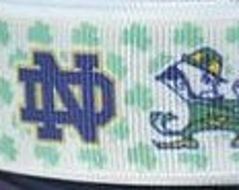 "Notre Dame Dog Collar - Side Release Buckle (1"" Width) - Martingale Available"