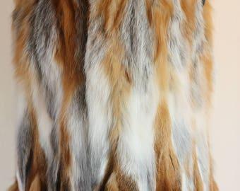 Luxury gift/Red Fox Fur Vest/Wedding,or anniversary present
