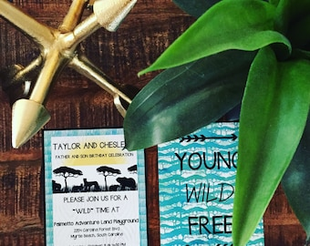 Young Wild and Free Birthday Invitation