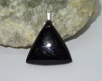 Beautiful black and silver form tourmaline necklace original