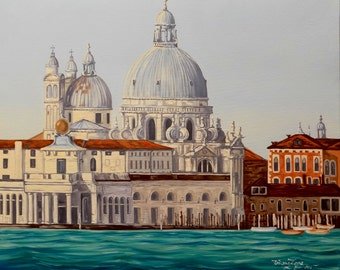 Venice | 25,6 * 21,3 in ( 65x54 cm ) | Original Oil Painting | FREE WORLDWIDE SHIPPING