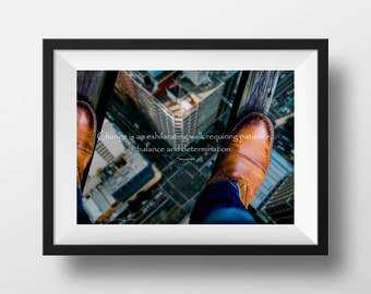 Print at Home Inspirational Posters for 8x10 Picture Frame, Change is an Exhilarating Walk