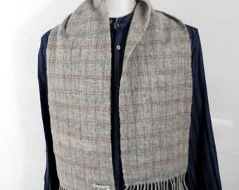 Vintage Natural Wool English Scarf