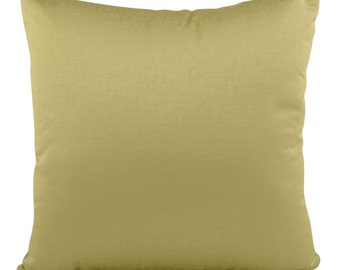 Olive Green Carnaby  Silk  Style Filled Cushion in 40cm or 43cm