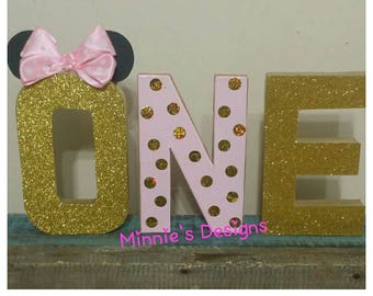 Minnie mouse table letters,Minnie mouse cake smash,Minnie mouse 1st birthday pink & gold,Minnie cake table letters,Minnie gold  pink party